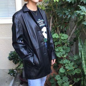 Vintage black Worthington leather jacket